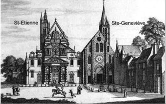 EGLISE ET CIMETIERE SAINT-ETIENNE-DU-MONT (Paris) - Tombes Sépultures dans  les cimetières et autres lieux